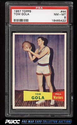 1957 Topps Basketball Tom Gola ROOKIE RC 44 PSA 8 NMMT PWCC
