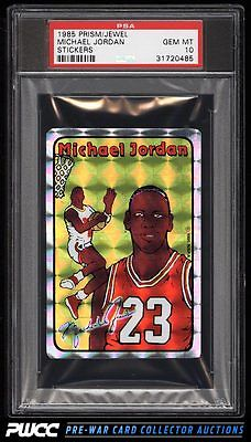 1985 Jewel Prizm Stickers Michael Jordan ROOKIE RC PSA 10 GEM MINT PWCC