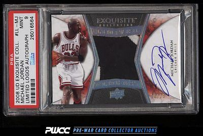 2008 Exquisite Limited Logos Michael Jordan AUTO PATCH 23 PSA 9 MINT PWCC