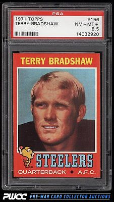 1971 Topps Football Terry Bradshaw ROOKIE RC 156 PSA 85 NMMT PWCC