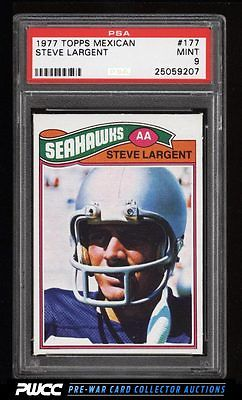 1977 Topps Football Mexican Steve Largent ROOKIE RC 177 PSA 9 MINT PWCC