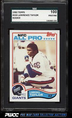 1982 Topps Football Lawrence Taylor ROOKIE RC 434 SGC 100 PRISTINE PWCC