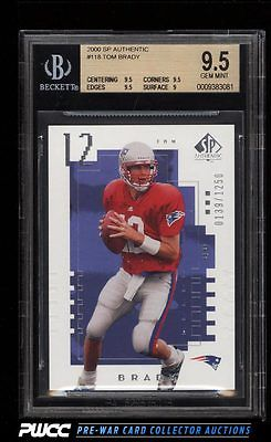 2000 SP Authentic Tom Brady ROOKIE RC 1250 118 BGS 95 GEM MINT PWCC