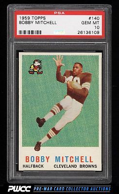 1959 Topps Football Bobby Mitchell ROOKIE RC 140 PSA 10 GEM MINT PWCC