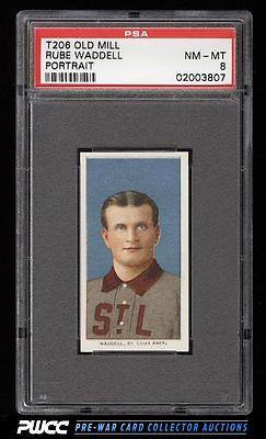 190911 T206 Rube Waddell PORTRAIT OLD MILL PSA 8 NMMT PWCC