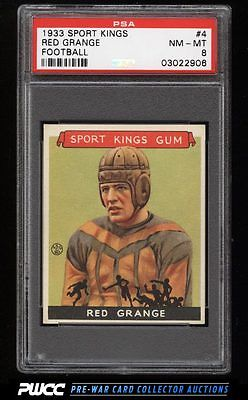 1933 Goudey Sport Kings SETBREAK Red Grange FOOTBALL 4 PSA 8 NMMT PWCC
