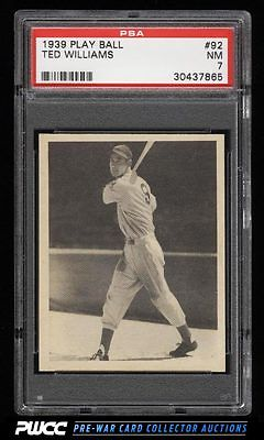 1939 Play Ball Ted Williams ROOKIE RC 92 PSA 7 NRMT PWCC