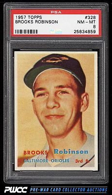 1957 Topps Brooks Robinson ROOKIE RC 328 PSA 8 NMMT PWCC