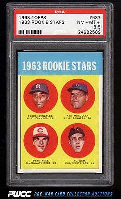 1963 Topps Pete Rose ROOKIE RC 537 PSA 85 NMMT PWCC