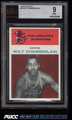 1961 Fleer Basketball Wilt Chamberlain ROOKIE RC 8 BVG 9 MINT PWCC