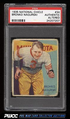1935 National Chicle Bronko Nagurski ROOKIE RC 34 PSA AUTH PWCC
