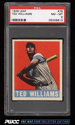 1948 Leaf Ted Williams 76 PSA 8 NMMT PWCC