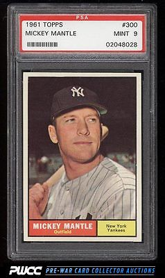 1961 Topps Mickey Mantle 300 PSA 9 MINT PWCC