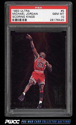 1993 Ultra Scoring Kings Michael Jordan 5 PSA 10 GEM MINT PWCC