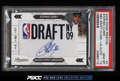 2009 Prestige NBA Draft Class Stephen Curry ROOKIE PATCH AUTO 125 PSA 10 PWCC
