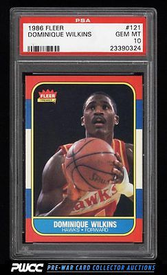 1986 Fleer Basketball Dominique Wilkins ROOKIE RC 121 PSA 10 GEM MINT PWCC