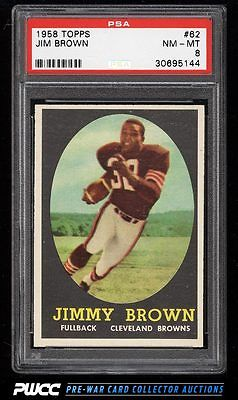1958 Topps Football Jim Brown ROOKIE RC 62 PSA 8 NMMT PWCC