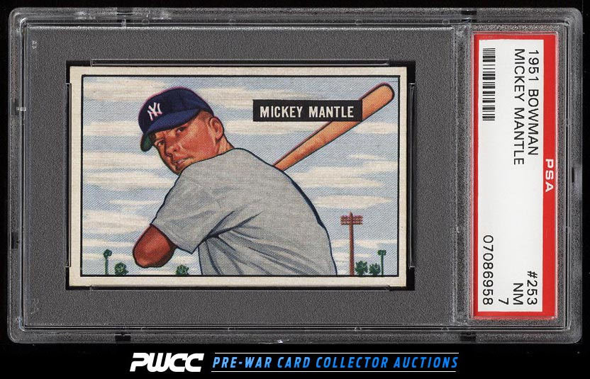 1951 Bowman Mickey Mantle ROOKIE RC 253 PSA 7 NRMT PWCC