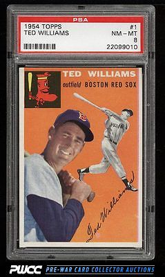 1954 Topps Ted Williams 1 PSA 8 NMMT PWCC