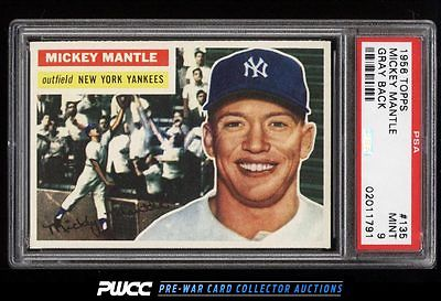 1956 Topps Mickey Mantle 135 PSA 9 MINT PWCC
