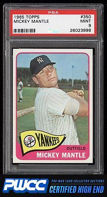 1965 Topps Mickey Mantle 350 PSA 9 MINT PWCCHE