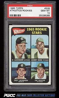 1965 Topps Catfish Hunter SP ROOKIE RC 526 PSA 10 GEM MINT PWCC
