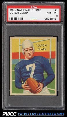 1935 National Chicle Dutch Clark ROOKIE RC 1 PSA 8 NMMT PWCC