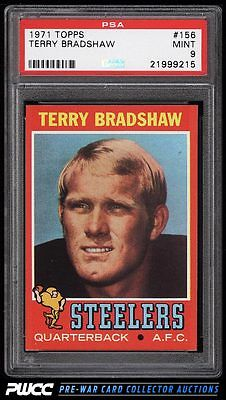 1971 Topps Football Terry Bradshaw ROOKIE RC 156 PSA 9 MINT PWCC
