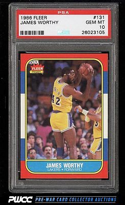 1986 Fleer Basketball SETBREAK James Worthy ROOKIE RC 131 PSA 10 GEM MT PWCC