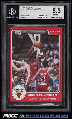 198485 Star Basketball Michael Jordan ROOKIE RC 101 BGS 85 NMMT PWCC