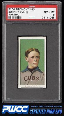 190911 T206 Johnny Evers PORTRAIT PSA 8 NMMT PWCCHE