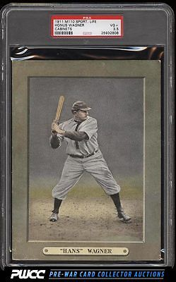 1911 M110 Sporting Life Cabinets Honus Wagner PSA 35 VG PWCC