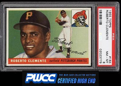 1955 Topps Roberto Clemente ROOKIE RC 164 PSA 8 NMMT PWCCHE