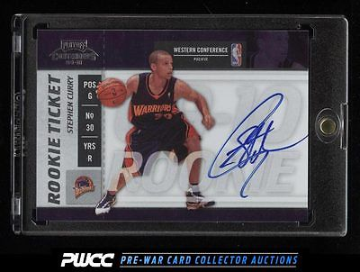 2009 Playoff Contenders Rookie Ticket Stephan Curry ROOKIE RC AUTO 106 PWCC