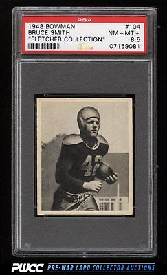 1948 Bowman Football Bruce Smith ROOKIE RC 104 PSA 85 NMMT PWCC