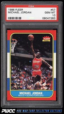 1986 Fleer Basketball Michael Jordan ROOKIE RC 57 PSA 10 GEM MINT PWCC