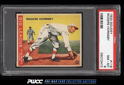 1933 Goudey Rogers Hornsby 119 PSA 8 NMMT PWCC