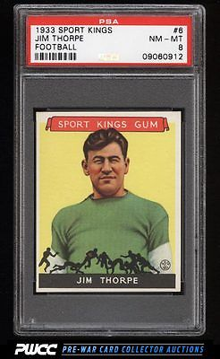 1933 Goudey Sport Kings SETBREAK Jim Thorpe FOOTBALL 6 PSA 8 NMMT PWCC